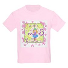 Little Ballerina 5th Birthday Kids T-Shirt