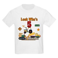 Construction 5th Birthday Kids T-Shirt