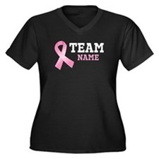 Team Name Breast Cancer Women's Plus Size V-Neck D