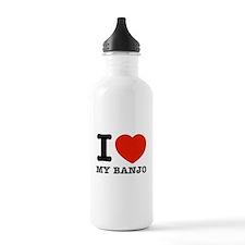I Love Banjos Water Bottle