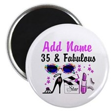 """HAPPY 35TH BIRTHDAY 2.25"""" Magnet (100 pack)"""