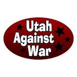 Utah Against War Oval Bumper Sticker