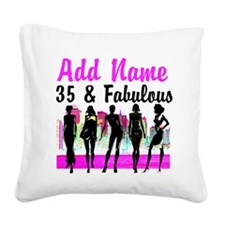 HAPPY 35TH BIRTHDAY Square Canvas Pillow