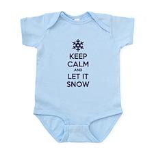 Keep calm and let it snow Infant Bodysuit