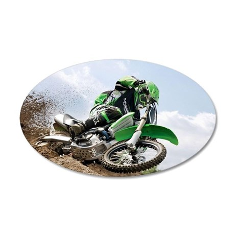 motorcycle-off-road 20x12 Oval Wall Decal