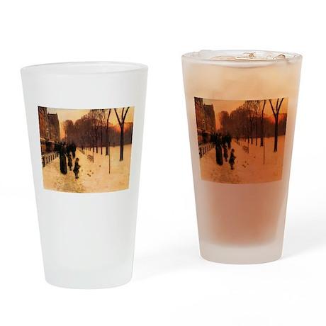 Childe Hassam Boston In Twilight Drinking Glass