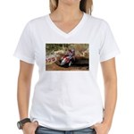motorcycle-off-road Women's V-Neck T-Shirt