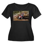 motorcycle-off-road Women's Plus Size Scoop Neck D