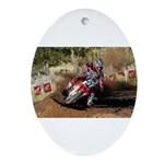 motorcycle-off-road Ornament (Oval)