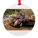 motorcycle-off-road Round Ornament
