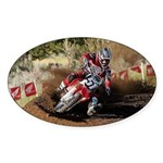motorcycle-off-road Sticker (Oval 50 pk)