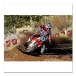 motorcycle-off-road Square Car Magnet 3