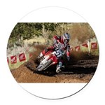 motorcycle-off-road Round Car Magnet