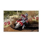 motorcycle-off-road Rectangle Car Magnet