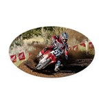 motorcycle-off-road Oval Car Magnet