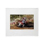 motorcycle-off-road Throw Blanket