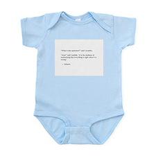 Voltaire on optimism Infant Bodysuit