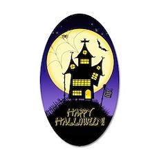 Spooky Halloween 1 20x12 Oval Wall Decal