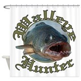 Walleye hunter 3 Shower Curtain