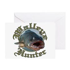 Walleye hunter 3 Greeting Card