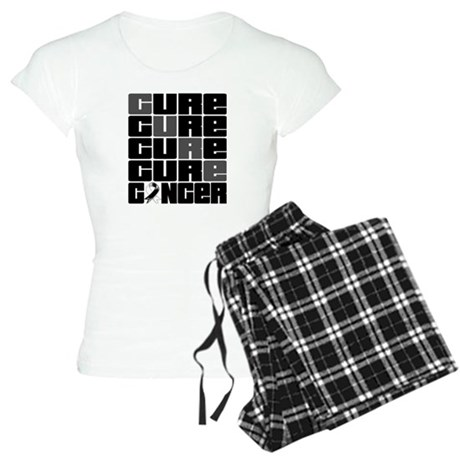 CURE Carcinoid Cancer Collage Women's Light Pajama