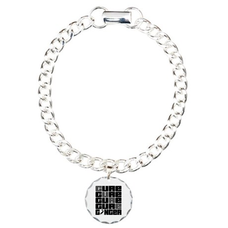 CURE Carcinoid Cancer Collage Charm Bracelet, One
