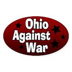 Ohio Against War Oval Bumper Sticker