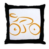 bike logo Throw Pillow