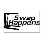 SwapHappensDesign2.png Rectangle Car Magnet