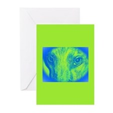 Green Zoe Greeting Cards (Pk of 10)