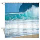 surf_beach_polihale_hawaii_tropical_shower_curtain.jpg?color=White&height= ...