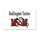 Bedlington Terrier Mom Car Magnet 20 x 12