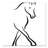 "dressage Square Car Magnet 3"" x 3"""