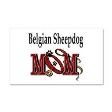 Belgian Sheepdog Mom Car Magnet 20 x 12