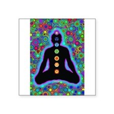 Chakra Energy Rectangle Sticker