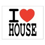 I love House Music Small Poster