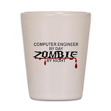 Computer Engineer Zombie Shot Glass