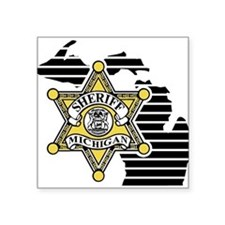 Michigan Sheriff Rectangle Sticker