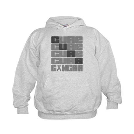 CURE Brain Cancer Collage Kids Hoodie