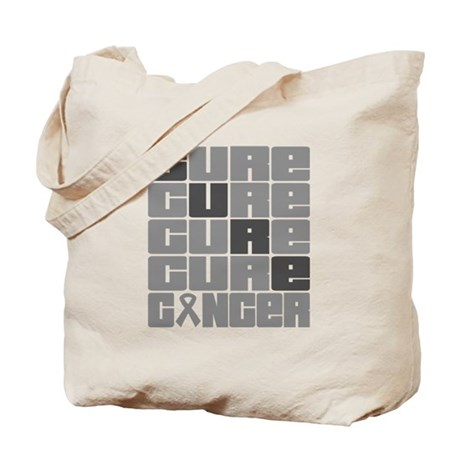 CURE Brain Cancer Collage Tote Bag