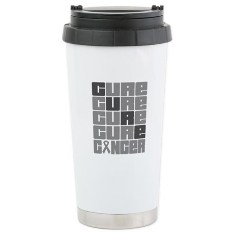 CURE Brain Cancer Collage Ceramic Travel Mug