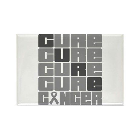 CURE Brain Cancer Collage Rectangle Magnet
