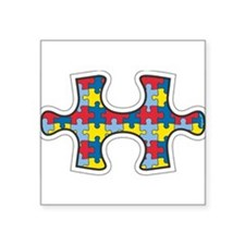 Die cut autism puzzle piece removable Sticker