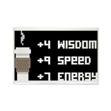8 Bit Coffee Video Game Rectangle Magnet