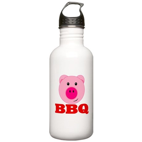 Pink Pig Red BBQ Stainless Water Bottle 1.0L