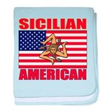 Sicilian American baby blanket