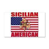 Sicilian American Car Magnet 20 x 12