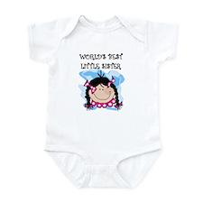 (Black) Best Little Sister Infant Creeper