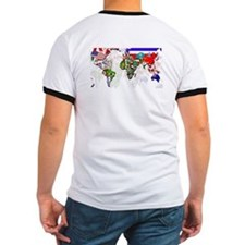 World Flag Map T