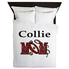 Collie Mom Queen Duvet